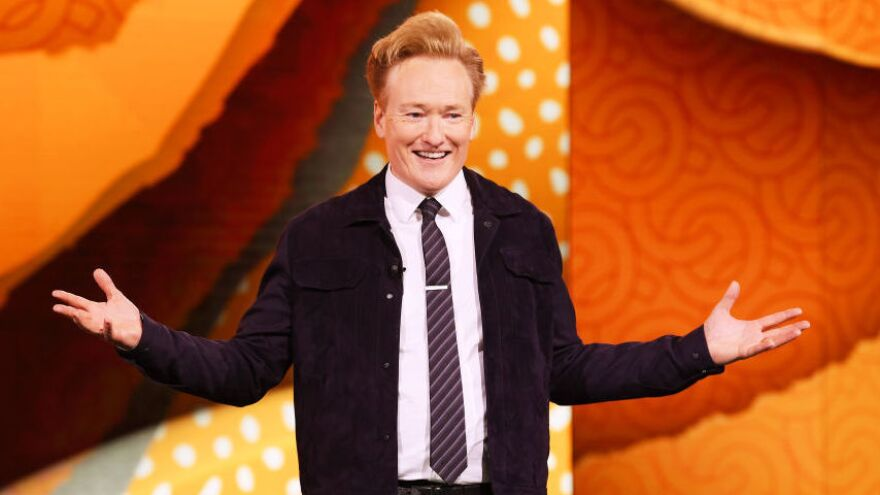 "Conan O'Brien hosts the TBS talk show <em>Conan</em>. ""I just really do love getting in front of people and making them happy, making them laugh,"" he says."