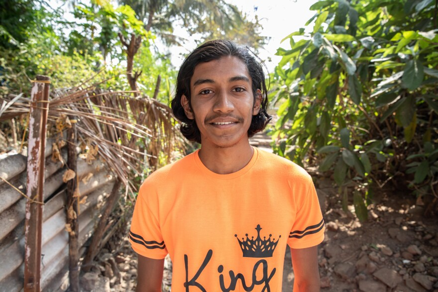 Akash Chawan, age 19, says he thinks most people are waiting for more information about the vaccine before agreeing to take it. Surveys back up his impression. He lives in a village on the outskirts of Palghar.
