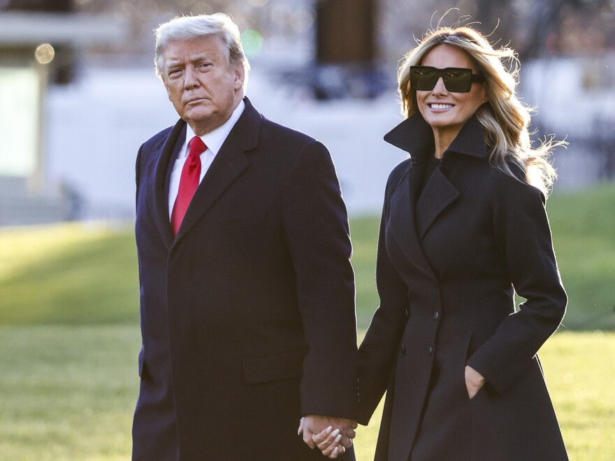 President Trump and first lady Melania Trump in Washington, D.C., Dec. 23. The president was the most-admired man in America this year according to Gallup. He tied former President Obama last year. Melania Trump was the third-most admired woman in America.