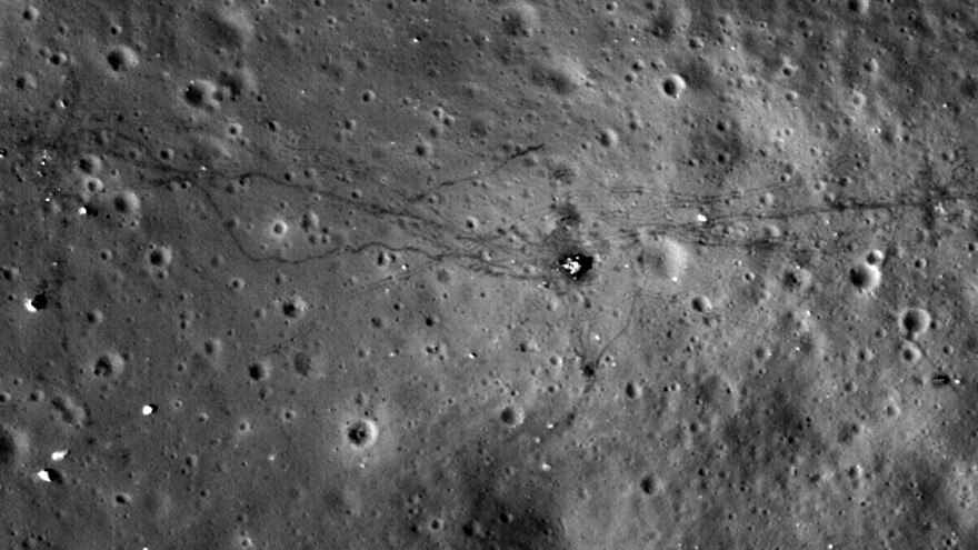 Five privately funded groups won't be able to claim the Google Lunar X Prize, organizers say. Here, the site of NASA's Apollo 17 landing on the moon is seen in a 2011 image.