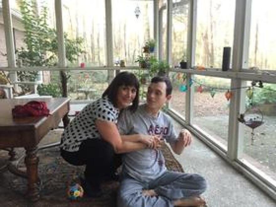 Rosalyn Deckerhoff and her son Barrett.