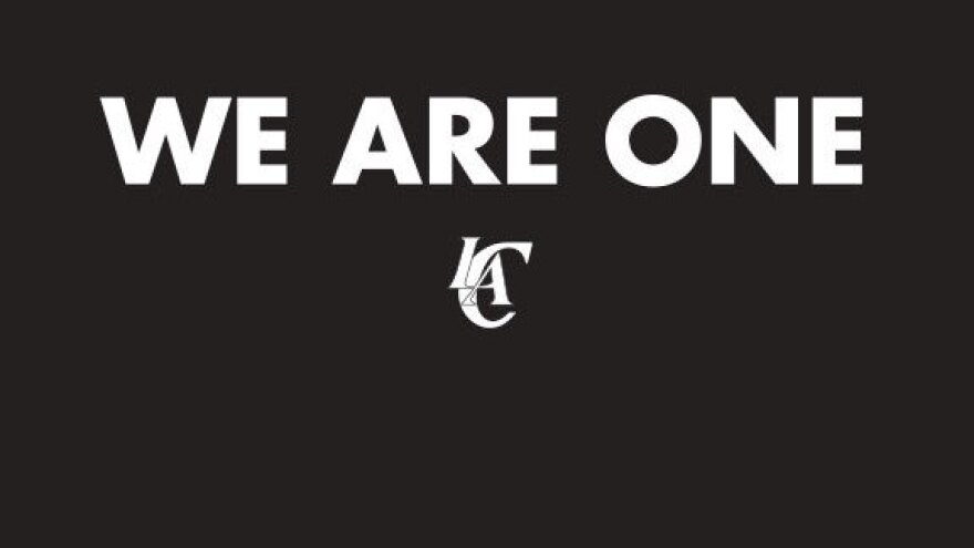 "After the team's owner was banned for life, the Los Angeles Clippers said, ""We wholeheartedly support and embrace the decision"" by the NBA, in a statement issued today. It also replaced its website with this image."
