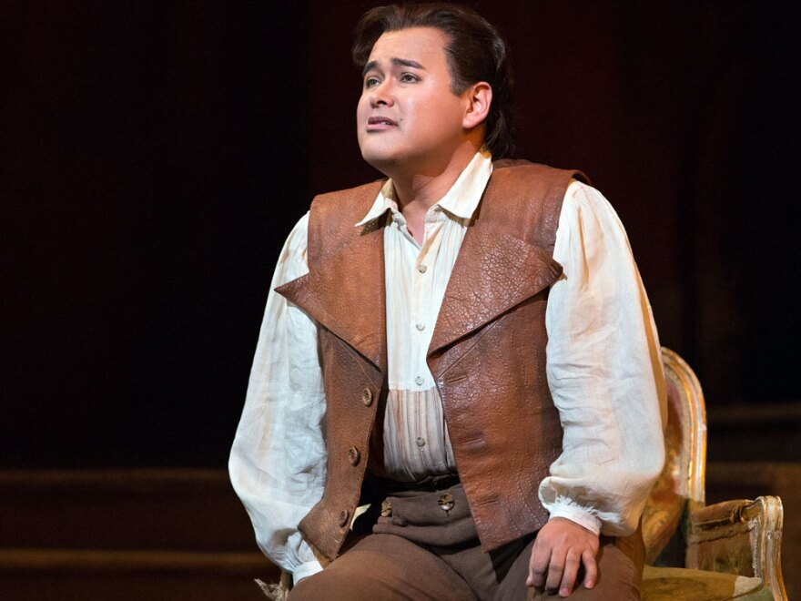 Tenor Javier Camarena got to sing a rare encore while playing the role of Ernesto in the Metropolitan Opera production of Donizetti's <em>Don Pasquale</em>.