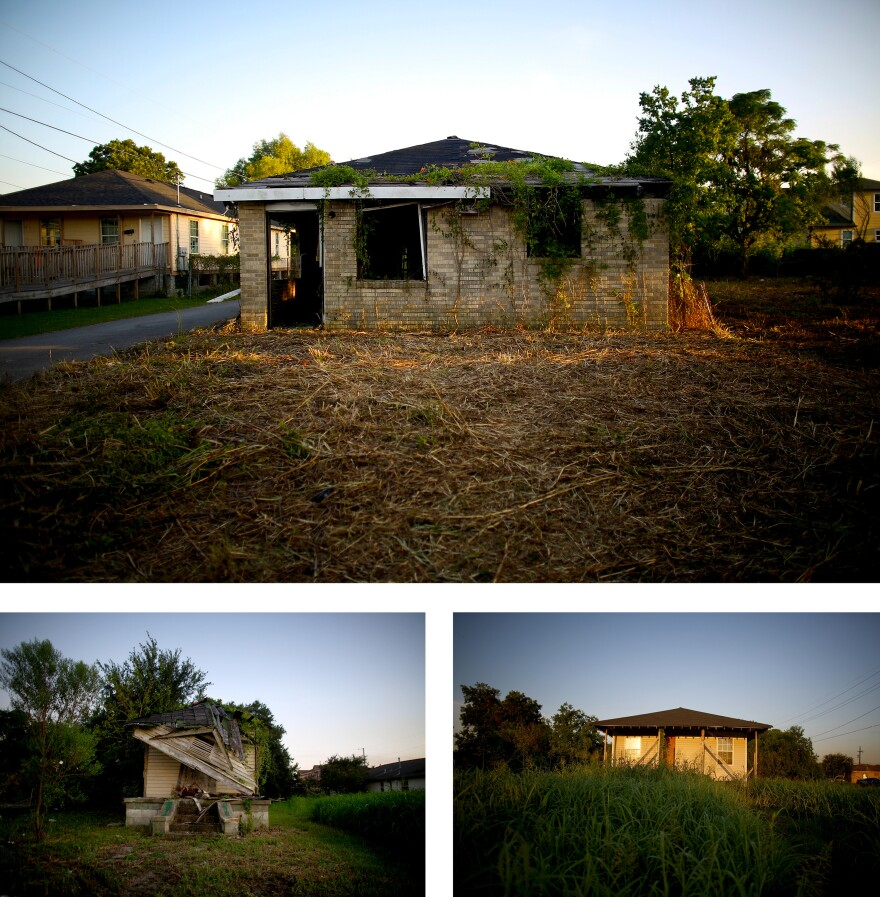 Blocks and blocks of the 2.25-square-mile Lower Ninth Ward are dotted with empty lots and abandoned homes.