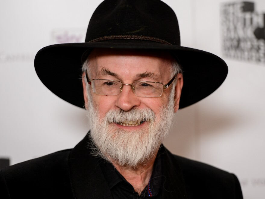 Terry Pratchett at the 2012 South Bank Sky Arts Awards in London.
