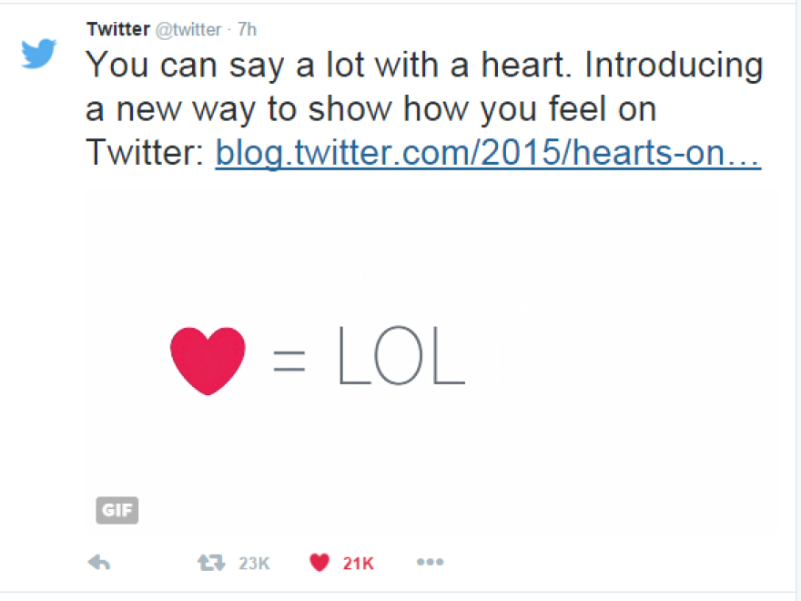 "Twitter changed its ""favorite"" star icon to a ""like"" heart icon prompting largely negative responses from Twitter users. But is it the heart they hate? Or the change itself?"