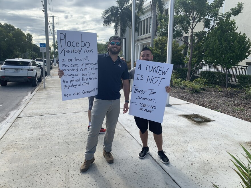 The proposed midnight curfew on alcohol sales was unpopular among people who work in Key West's bar and restaurant industry. The mayor withdrew the proposal.