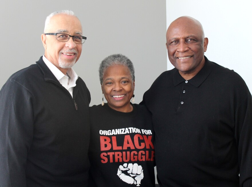 Longtime St. Louisans (from left) Mike Jones, Jamala Rogers and Virvus Jones joined Wednesday's show to reflect on the impact of what occurred on April 4, 1968.