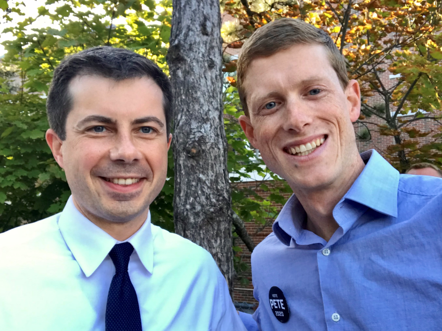 Weeks, right, said Buttigieg helped convene their political discussion groups but didn't dominate the conversations.