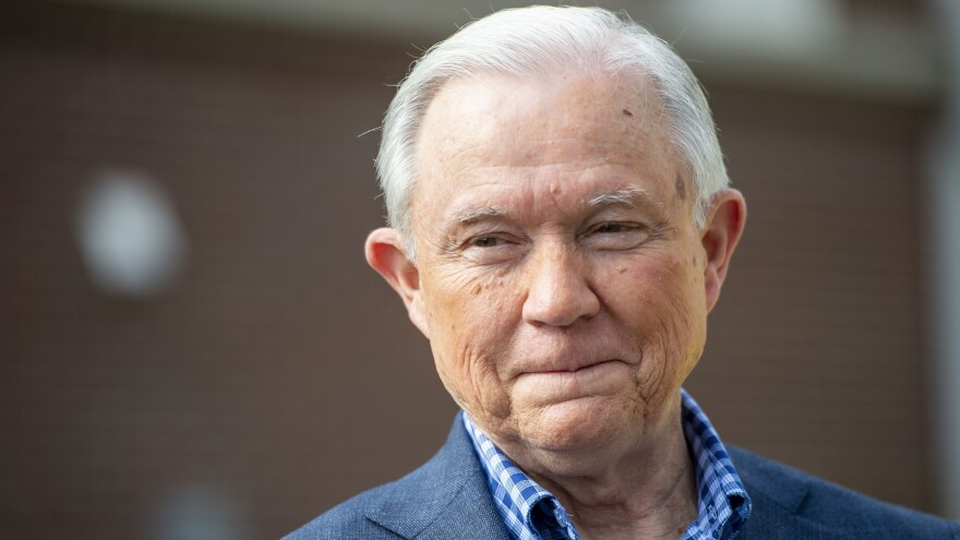 The marquee race is the Alabama Republican Senate runoff, which pits former Sen. Jeff Sessions (seen here) against former Auburn football coach Tommy Tuberville.