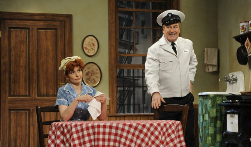 Tina Fey and Alec Baldwin appeared in one of several parodies in one of <em>30 Rock's</em> live episodes.