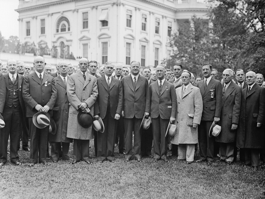 The Freemasons have a long history of secrecy and influence, but today many of their traditions are a simple Google search away. Above, nearly 200 high masons pose at the White House with President Herbert Hoover on May 10, 1932.