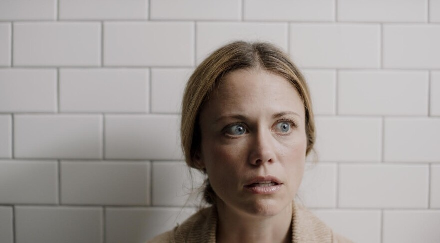 Claire Coffee stars as a mother who starts vomiting up toys in Bridget Moloney's short film <em>Blocks.</em>
