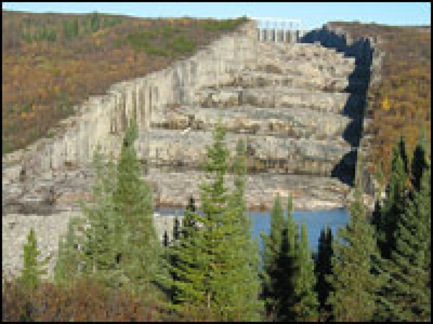 """The massive spillway from one of the main dams is known as the """"Giant's Staircase."""" Each """"step"""" is more than 30 feet high."""