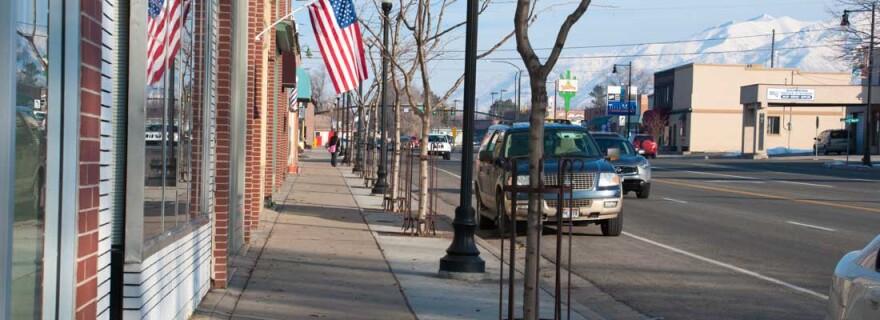 Photo of a street in Kaysville