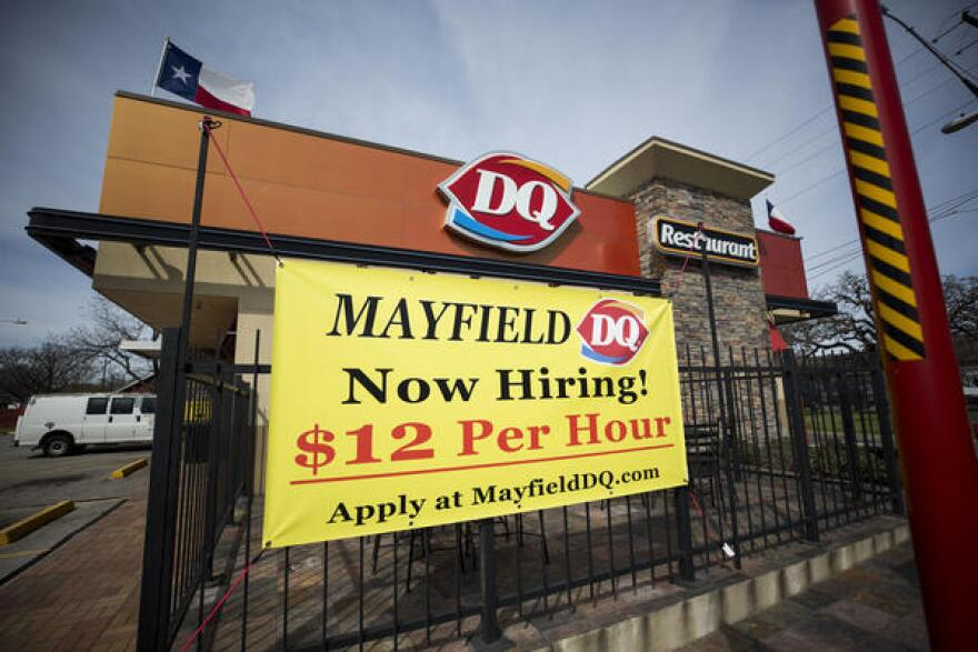 Robert Mayfield, the owner of Mayfield Dairy Queen, says he tries to limit employee turnover by offering incentives beyond the relatively high wages for a fast-food restaurant.