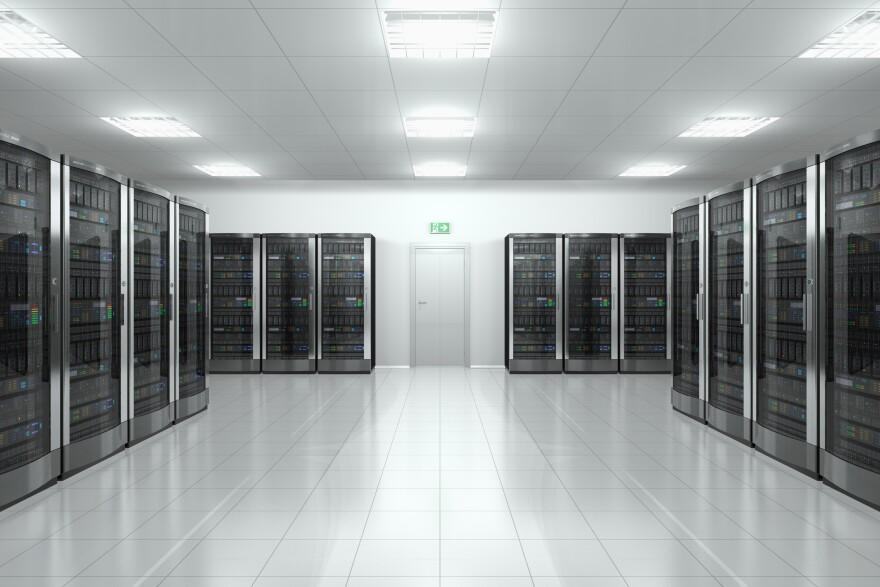 Photo of data center.