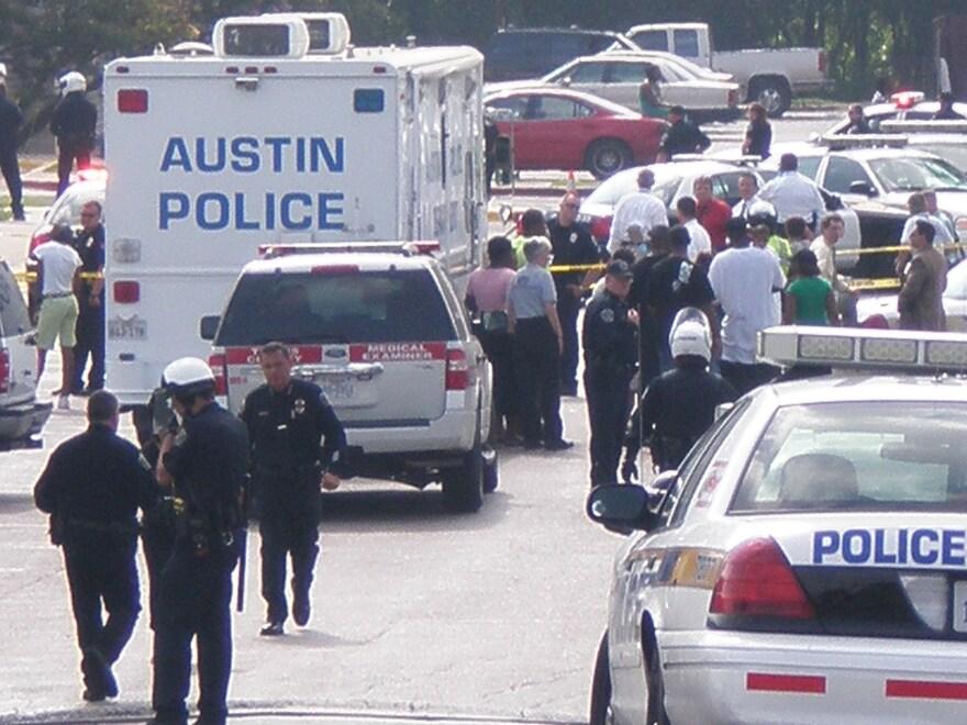 Police respond to shooting of Nathaniel Sanders II.