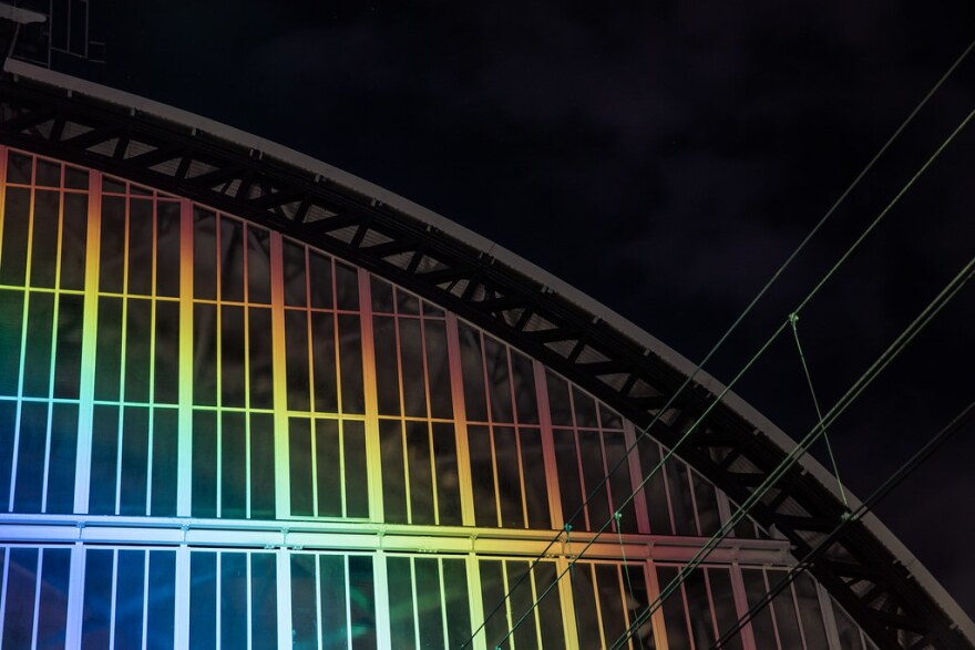 a photo of LED lights at Amsterdam Rainbow Station