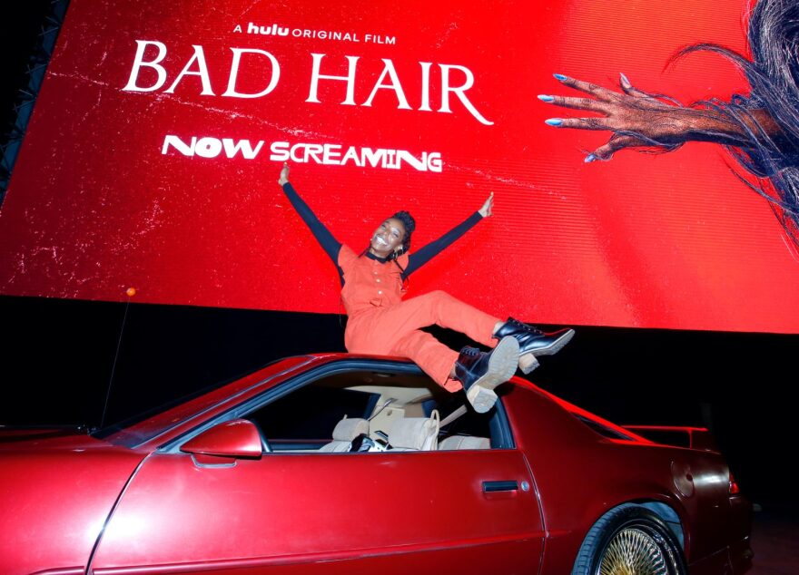 """Actress Elle Lorraine arrives to a screening of """"Bad Hair."""""""
