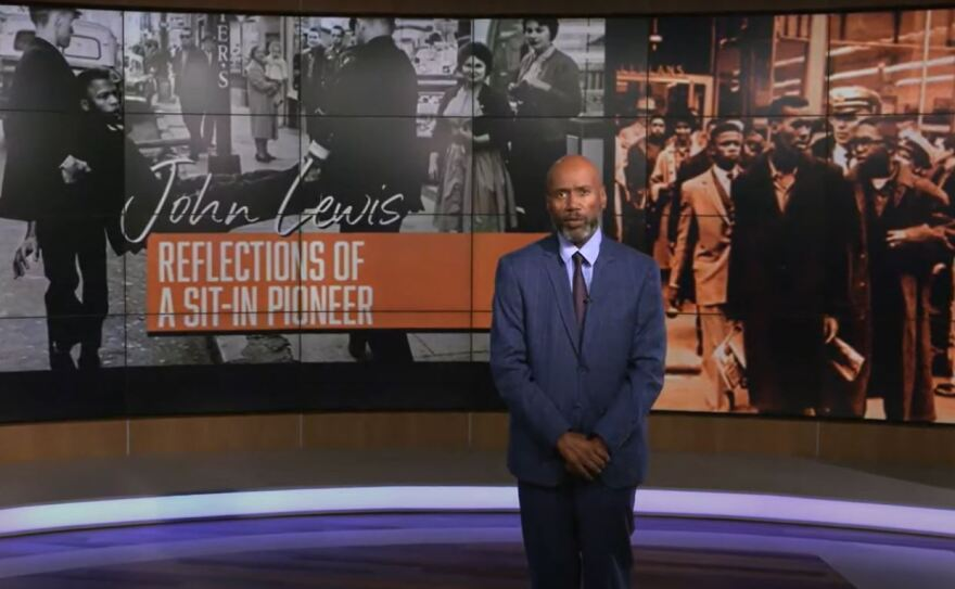 """Steve Crump's documentary """"John Lewis - Reflections of a Sit-Pioneer"""" aired on WBTV and Bounce TV."""