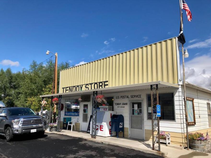 The front of the Tendoy store where Cheryl Ostern works.
