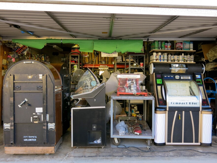 Muller's Jukeboxes Unlimited buys, repairs, rents and sells jukeboxes. He's owned it since 1971.