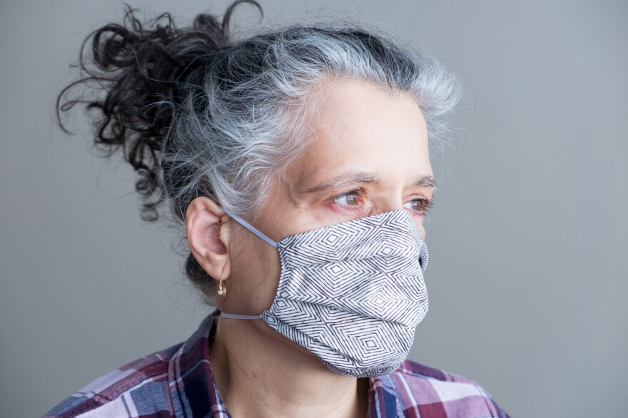 For a cloth mask, in general, you want to look for a fabric with a tight weave. Multiple studies have shown that 100% cotton is a good bet (think slightly stiffer dress-shirt cotton).