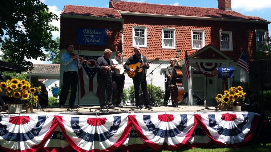 Joe Mullins and the Radio Ramblers perform at the DeWine Ice Cream Social.
