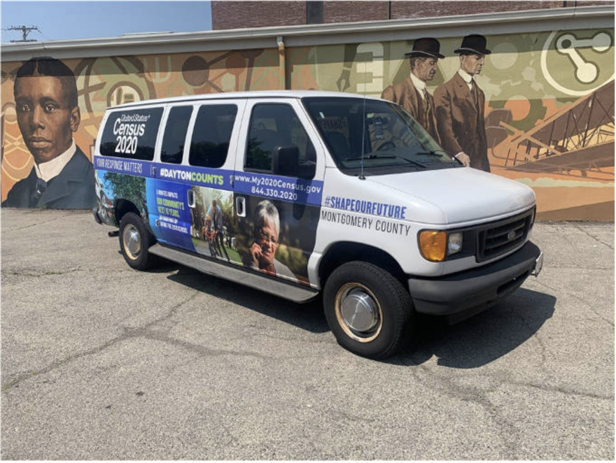 The Dayton-Montgomery County 2020 Mobile Census Unit in the Wright-Dunbar neighborhood.