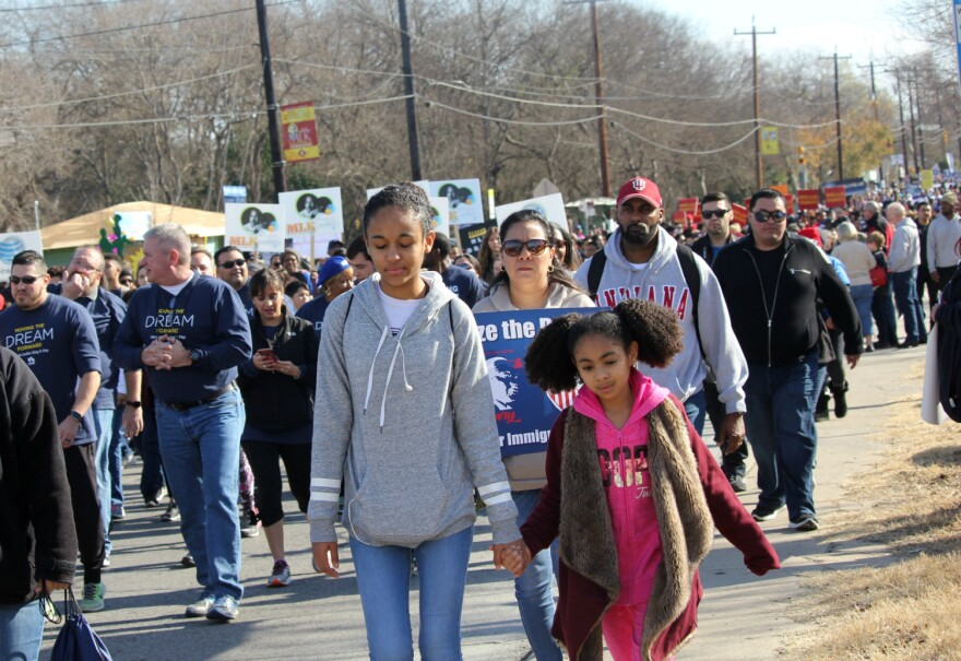 Thousands of people took part in this year's Martin Luther King Jr. Day march Jan. 15, 2018.