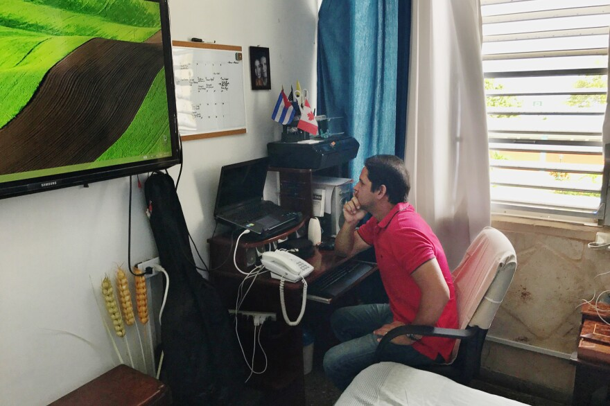 Harold Cardenas Lema runs the blog <em>La Joven Cuba</em> out of the two-room apartment he shares with his mom and girlfriend.