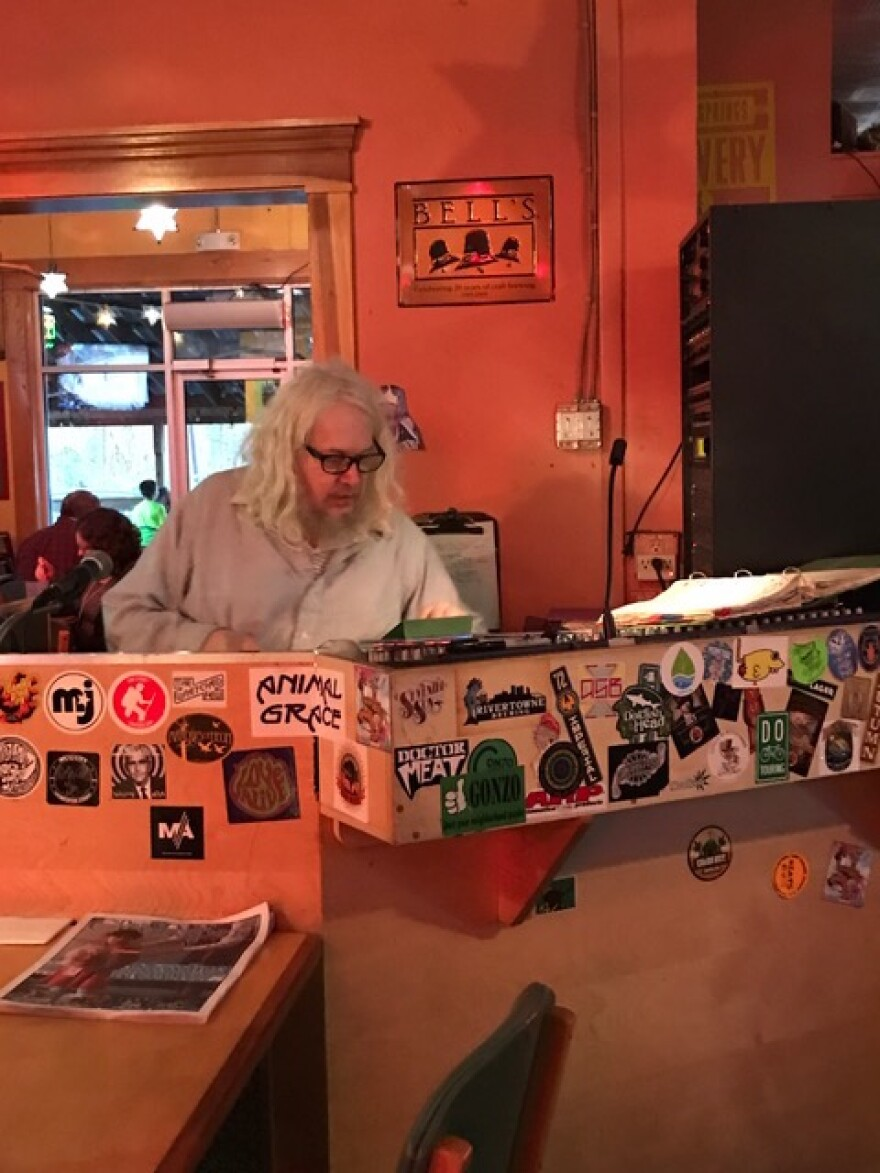 Clean Gene and his Record Machine can be found every Wednesday evening from 5 to 9 at Peach's Bar & Grill in downtown Yellow Springs