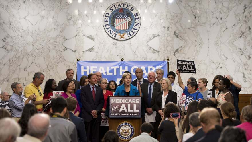 When Sen. Bernie Sanders, I-Vt., introduced his Medicare-for-all legislation in 2017, he was joined by several other senators now seeking the 2020 Democratic presidential nomination, including Elizabeth Warren of Massachusetts, Kirsten Gillibrand of New York, Cory Booker of New Jersey and Kamala Harris of California.