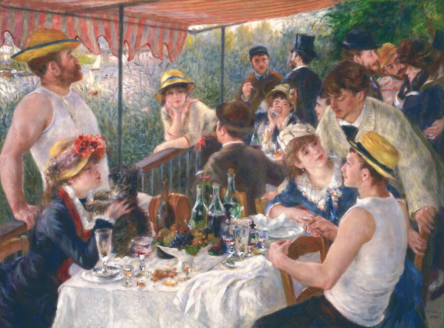 """Phillips Collection curator Eliza Rathbone says Renoir was """"at the height of his powers"""" when in he painted<em> Luncheon of the Boating Party</em>."""