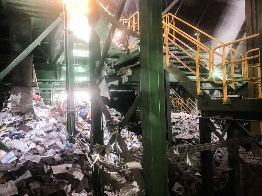 Garten Services, a recycling facility in Oregon, where paper and metals still have markets but most plastic is thrown away. All plastic must first go through a recycling facility like this one, but only a fraction of the plastic produced actually winds up getting recycled.