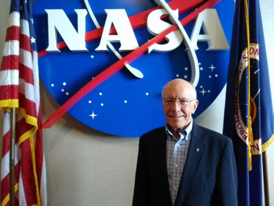 NASA's Gerry Griffin at a recent visit to Kennedy Space Center's Visitor Complex.