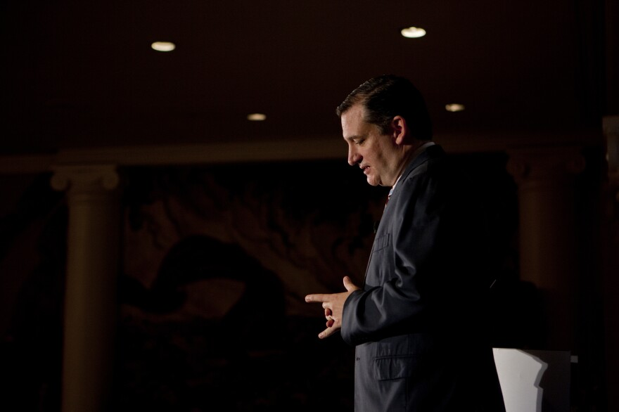 Ted Cruz speaks at the Road to Majority conference in Washington, D.C., on Thursday.