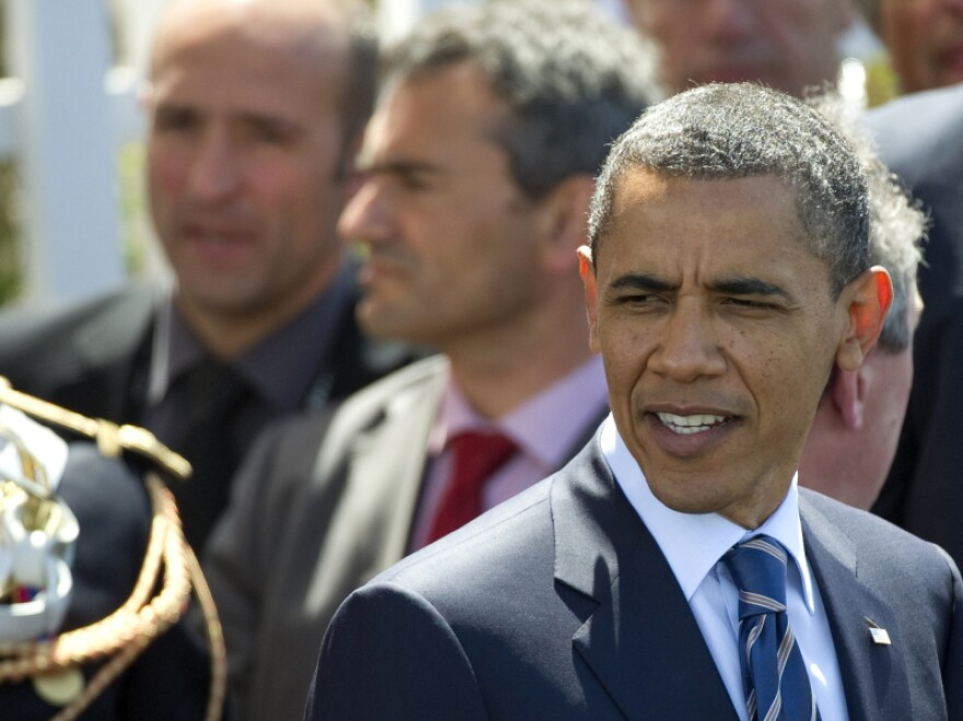 President Barack Obama leaves a lunch meeting at the G8 summit in Deauville, France last month. G8 leaders discussed ways in which to end the conflict in Libya.