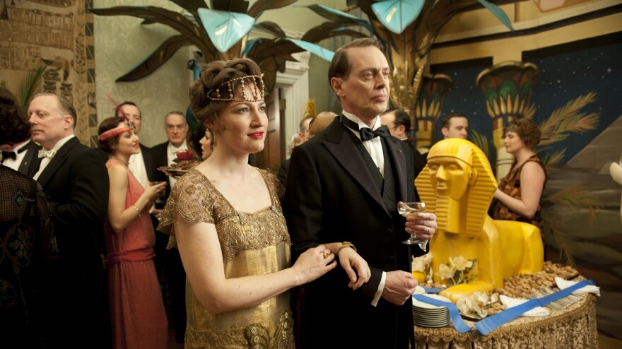 "In <em>Boardwalk Empire,</em> Margaret Schroeder (Kelly Macdonald) is married to corrupt political boss ""Nucky"" Thompson (Steve Buscemi.)"