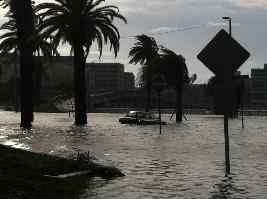 Bayshore Boulevard in South Tampa routinely floods during thunderstorms.