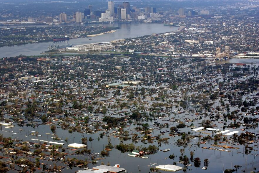 Floodwaters from Hurricane Katrina cover a portion of New Orleans Tuesday, Aug. 30, 2005. (David J. Phillip/AP Photo)