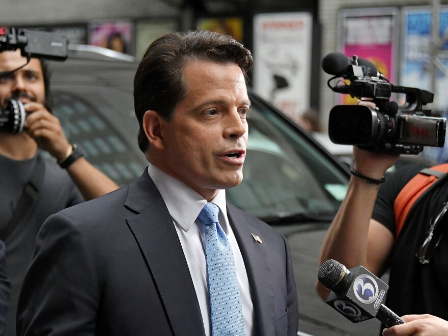 Anthony Scaramucci in a 2017 file photo. Scaramucci, who was briefly the White House communications director, said he had a lot of trouble getting wealthy Republicans to donate to President Trump's insurgent 2016 campaign.