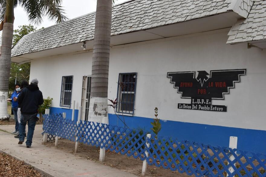La Unión del Pueblo Unido's headquarters in San Juan, Texas in January 2021.