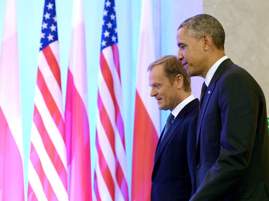 President Obama and Polish Prime Minister Donald Tusk at a meeting in Warsaw, Poland, on Tuesday.