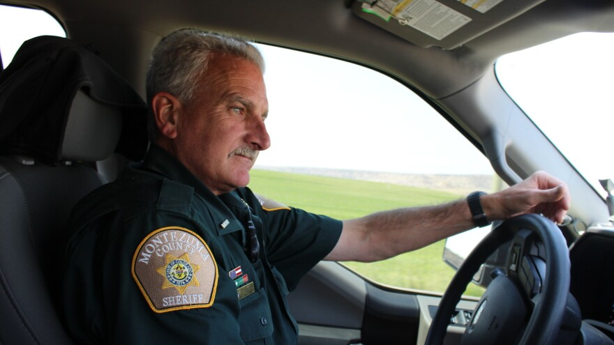 Sheriff's Deputy Dave Huhn's job has become more important after a series of hot, dry summers have made farmers more desperate for water, and more willing to steal it or go to battle over it.