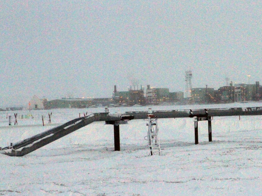 Oil operations like this one on  Alaska's North Slope are designed for freezing conditions.  But as the permafrost thaws, companies are creating new products to help the industry cope.