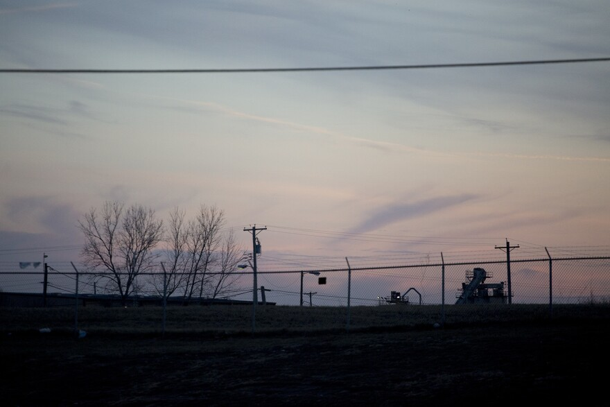 The West Lake Landfill, seen from St. Charles Rock Road in Bridgeton.