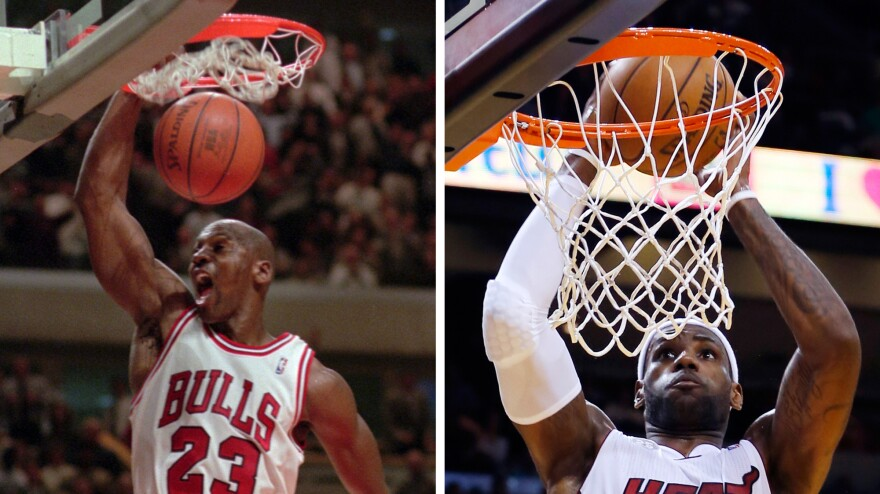 <strong>Watch The Throne: </strong>Not so long ago Michael Jordan was the GOAT. Now, there's a groundswell to ordain LeBron James as the greatest-of-all-time basketball player.