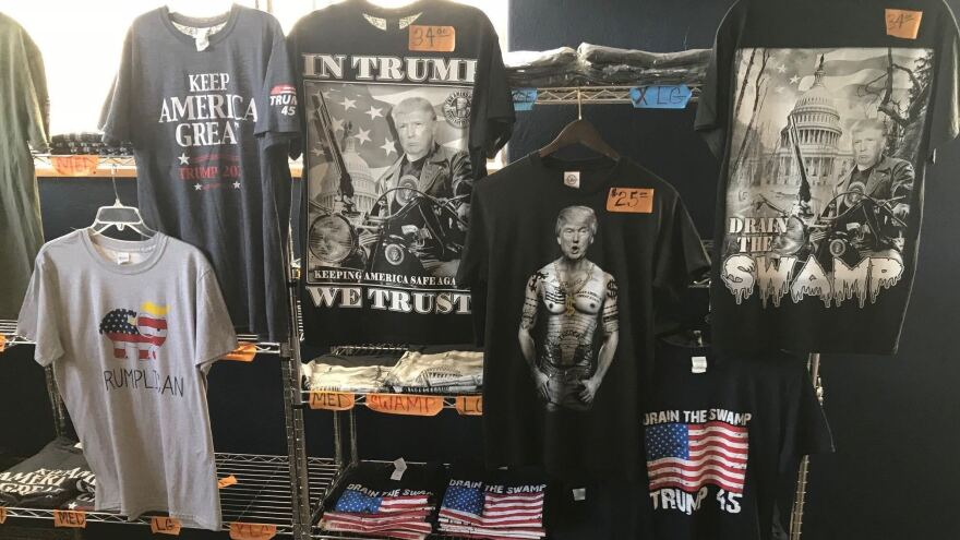 The Trumped Store and Coffee House offers a vast collection of Trump-inspired merchandise, from T-shirts to teddy bears.